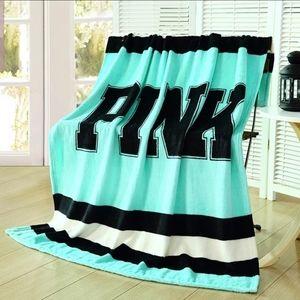 Last one! VS Pink fleece throw blanket